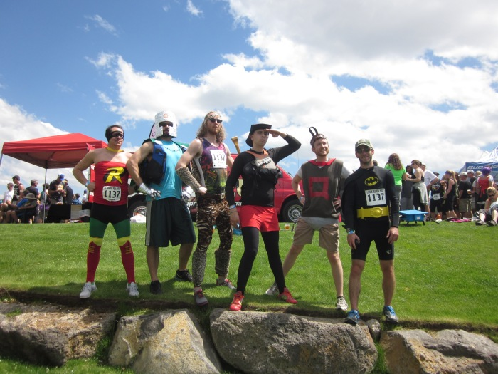 Here is a shot of all the superheroes that made up our team.