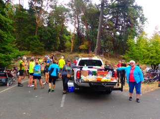 The lunch stop for the day at Lime Kiln State Park.
