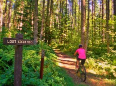 Just beginning the Lost Creek Trail after riding part of the Buck Mountain loop.