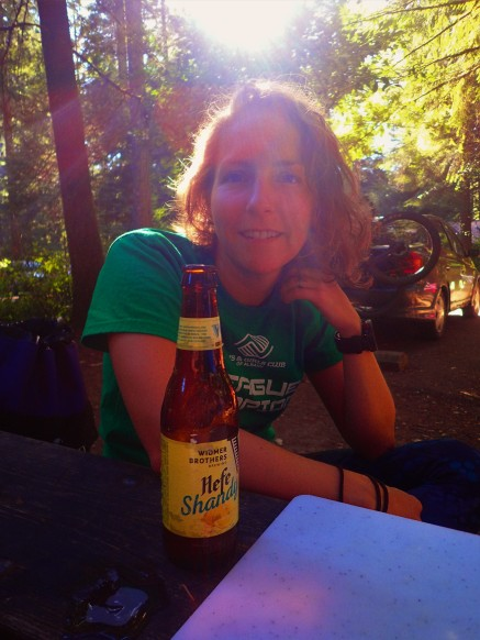 Of course, a post-ride beer must happen before any unpacking really happens.
