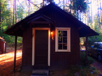Our awesome little cabin in Union Creek.