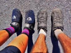 Due to some construction zones on our ride, we got pretty muddy at the beginning of the ride.