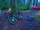 Bike parking lot.