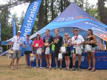 I ended up winning the endurance duathlon - here I am with other noteworthy competitors