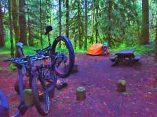 A quick tent setup...