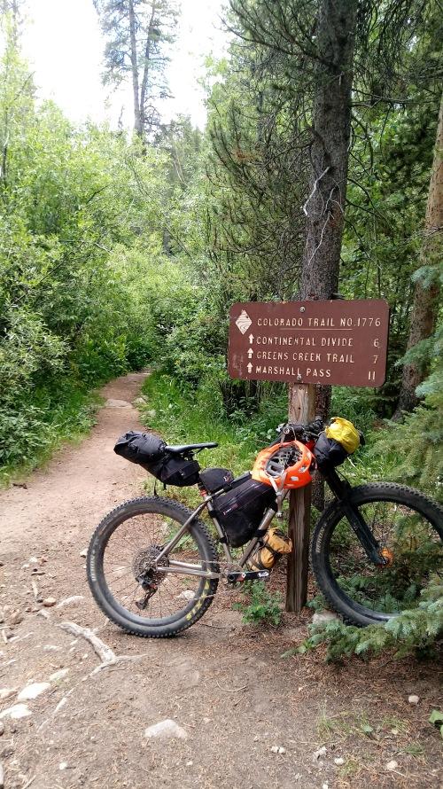 The climb up to Marshall Pass.
