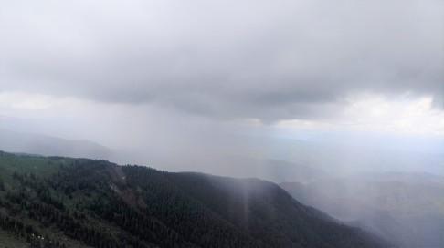 And the rain/thunder/lightning/hailstorm finally caught us.