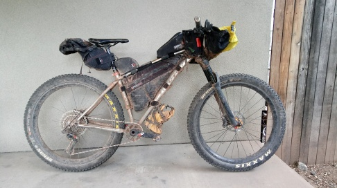 The bike and all its contents from the last 13 days.