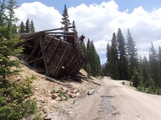 Our worksite was near an old mining town called Hancock, and some of the remnants still remain intact.
