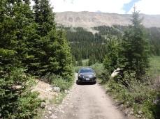 My Subaru navigating 'High Clearance' roads with ease.