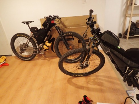 The bikes finally packed and ready around 11:30pm.