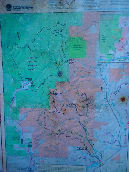 The Trail network around Buck Creek.